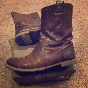 Gidigio brown leather boots size 38.5